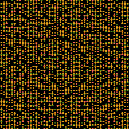 Abstract rhomb pattern. Scattering of tiny beads. Noise background for poster or flyer. Seamless. Variety of rhombuses in bright colors. Colorful background for decoration or printing on fabric.