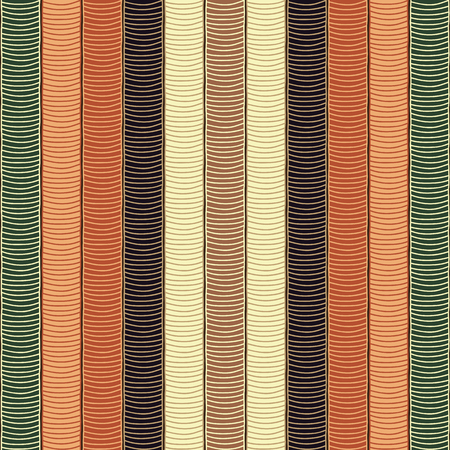 yellow african: Traditional African Ornamental Pattern. Stylized Seamless texture with waves. Symmetrical Orange Green and Yellow African Pattern for decoration or background. Illustration