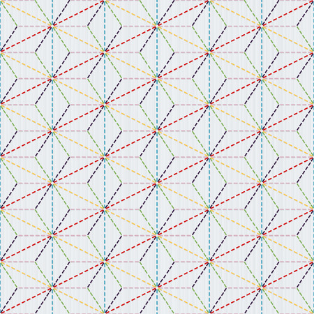 Scattered hemp leaf motif (tobi asa-no-ha). Old traditional handiwork. Stylized seamless texture with colorful circles on a light background. Web page backdrop.