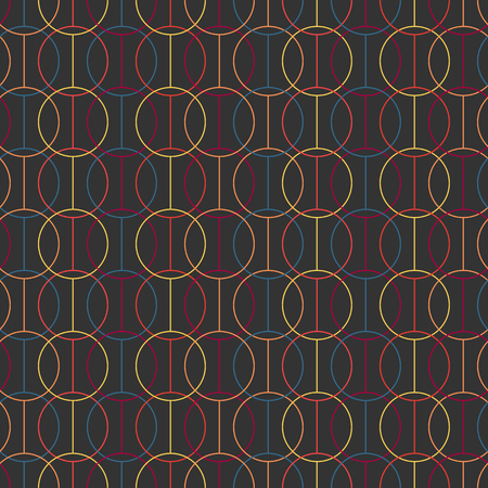 pale colors: Seamless pattern. Crossed circles and lines. Geometric. Stylized texture with lines and circles. Pale colors. Abstract background.