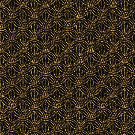 Seamless pattern based on japanese sashiko motifs. Golden color. Sashiko with flowers. Abstract geometric backdrop. Sashiko motif. For decoration or printing on fabric. Stock Illustratie