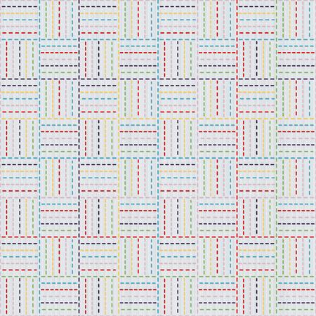 シームレス パターン。刺し子モチーフのカラフルな織物。伝統的な日本刺繍の飾り。抽象的な背景。針仕事のテクスチャです。装飾または布で印刷