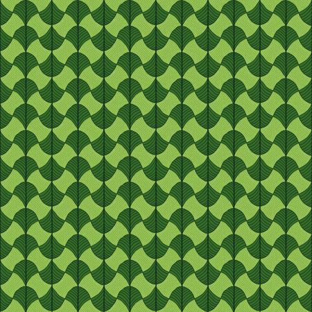 Stylized papyrus leaves. Green background for decoration or backdrop. Simple pattern for wallpaper, web page background, surface textures. Pattern fills. For decoration or printing on fabric. Ilustração