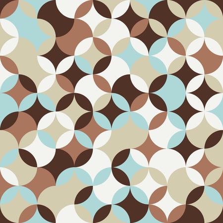 明るい背景をラウンドします。伝統的な日本刺繍に基づいています。抽象的なシームレス パターン。刺し子 - に基づいて七宝つなぎ。  イラスト・ベクター素材