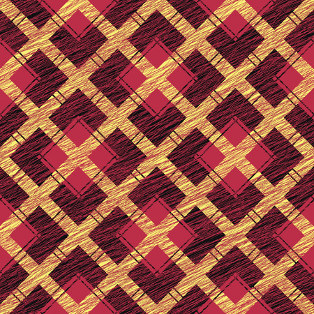 backdrop grungy: Fabric with scratch lines. Abstract Seamless Pattern. Surface texture. Grungy tartan. Brush strokes. Pattern fills. Abstract backdrop. Simple checkered template.