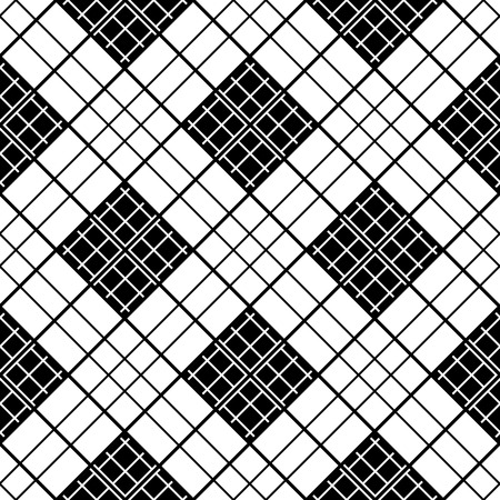 chinese black and white motif simple checkered template in black