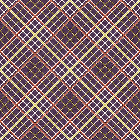 dark brown background: Abstract Pattern with Plaid Fabric on a dark brown background. Seamless vector illustration.
