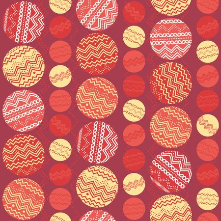 円、手描きの装飾品と温かみのある風合い。装飾のための赤と黄色のシンプル背景