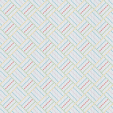 quilting: Old japanese quilting. Sashiko. Seamless pattern. Needlework texture. Geometric background. Abstract backdrop. For decoration or printing on fabric.