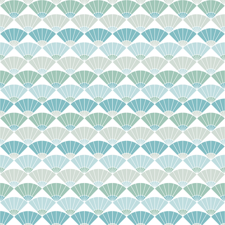 stitching: Colorful fan background. Based on Traditional Japanese Embroidery. Abstract Seamless pattern. Based on Sashiko stitching - uchiwa. Illustration