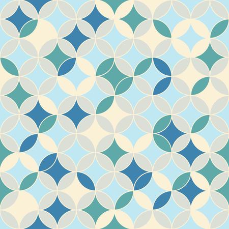 stitching: Endless round backdrop. Based on Traditional Japanese Embroidery. Plain Colorful pattern. Based on Sashiko stitching - shippo-tsunagi.