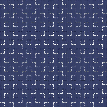 handiwork: Old traditional handiwork. Stylized Seamless texture with rhombuses on the dark blue background.