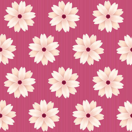 桜が咲く。ベクターのシームレスなパターン。桜繊維。花の背景。無限のテクスチャです。