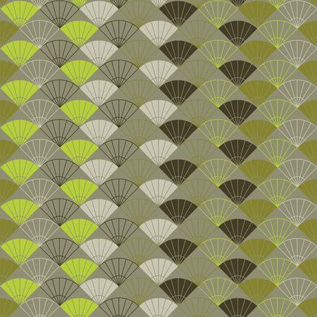 平野ファンの背景。伝統的な日本刺繍に基づいています。抽象的なシームレス パターン。刺し子 - に基づいてうちわ。