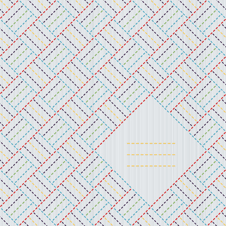 Japanese handiwork invitation. Text frame. Abstract japanese needlework. Decorative texture. Can be used as seamless pattern. Decorative sashiko frame with copy space for text. 向量圖像