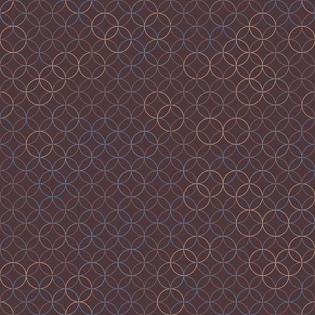 普通の丸い背景。伝統的な日本刺繍に基づいています。抽象的なシームレス パターン。刺し子 - に基づいて七宝つなぎ。