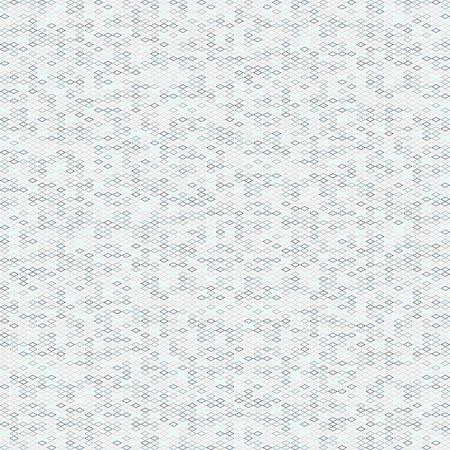 Graphic rhomb pattern. Scattering of tiny beads. Noise background for poster or flyer. Seamless. Variety of rhombuses in pale colors. Outline backdrop for decoration or pattern fills.