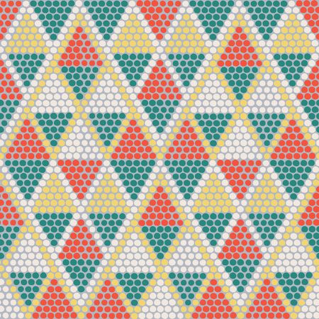 Hand drawn Ethnic background based on African ornaments. Stylized texture with triangles. Bright background for decoration or backdrop.