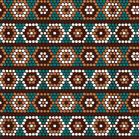 Hand drawn Ethnic background based on African ornaments. Stylized texture with hexagons. Contrast background for decoration or backdrop. Ilustração