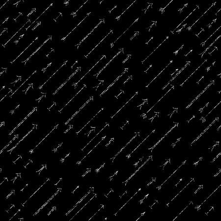 Grunge arrows background. Dark seamless pattern. Black and white colors. Contrast scratched backdrop. Plain backdrop for wallpaper, web page background or surface texture. Pattern fills.