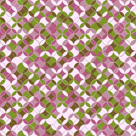 stitching: Abstract round backdrop. Based on Traditional Japanese Embroidery. Simple Colorful pattern. Based on Sashiko stitching - shippo-tsunagi.