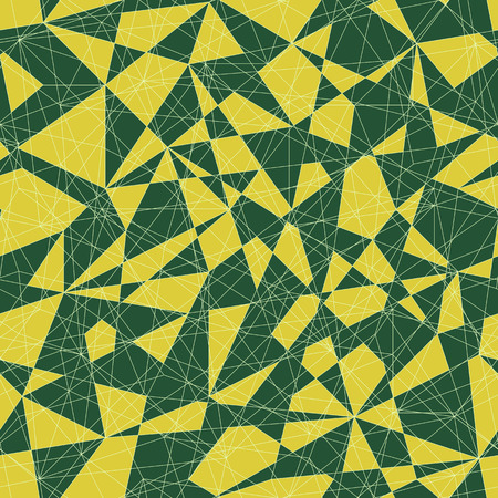 delta: Abstract mosaic pattern with shades of green  triangles. Seamless vector. Stylized delta texture. Bright colored puzzle background for decoration or backdrop. Unstable endless composition.
