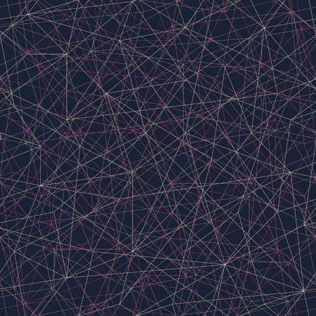 unstable: Abstract mosaic pattern with triangles. Seamless vector. Stylized texture with pink and yellow lines. Dark puzzle background for decoration or backdrop. Unstable composition. Illustration