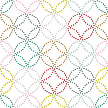 Dot texture. Seamless pattern. Abstract backdrop. Based on traditional asian ornament. Variation of Japanese motif. For decoration or printing on fabric. Pattern fills.  イラスト・ベクター素材