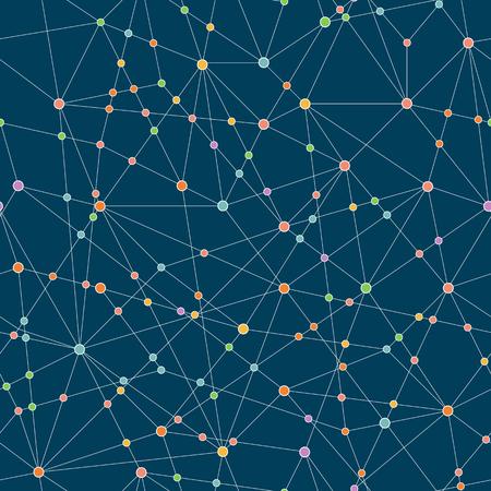 技術の背景を抽象化します。シームレス パターン。クラウドコンピューティングの概念。接続点と様式化されたテクスチャです。インターネット通