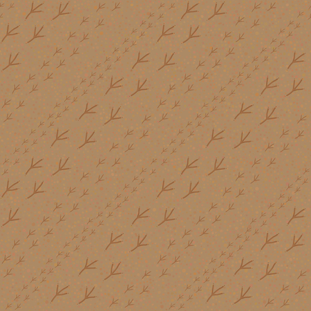 footprints in sand: Bird footprints on the sandy background. Seamless pattern. Summertime. Endless texture. Bird footprints backdrop. For decoration, wallpaper, web-page, surface textures. Pattern fills.