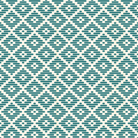 Abstract seamless pattern. Japanese Kogin embroidery style. Traditional ornament Hanako. Geometric illustration. Simple asian ornament.