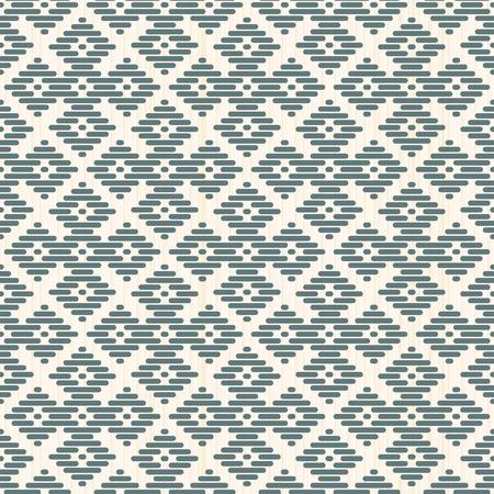 stitching: Seamless background. Japanese Kogin embroidery. Abstract pattern. Traditional ornament Hana-tsunagi. Geometric illustration. Simple asian ornament for stitching.