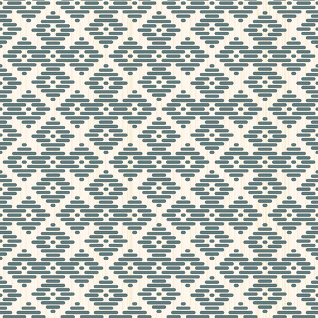 Seamless background. Japanese Kogin embroidery. Abstract pattern. Traditional ornament Hana-tsunagi. Geometric illustration. Simple asian ornament for stitching.