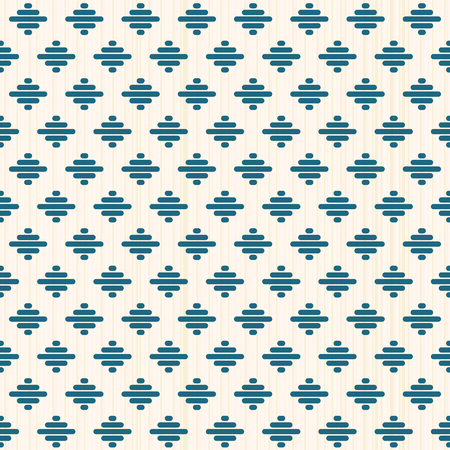 Geometric seamless pattern. Japanese Kogin embroidery style. Traditional ornament Kacharazu. Abstract illustration. Simple asian ornament.