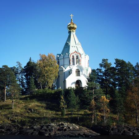 nikolay: Nikolsky monastery. Nicholas The Wonderworkers church. Saint Nicholass church on the island (skete). Valaam island on the Ladoga lake. Aged photo. Beautiful churches. Karelya, Russia.