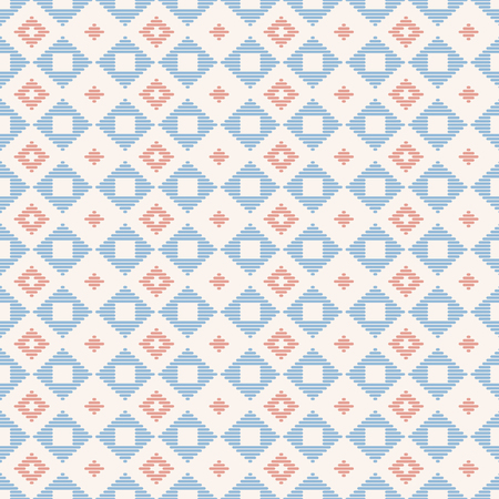 Geometric seamless pattern. Japanese Kogin embroidery. Traditional ornament  Abstract illustration. Simple asian ornament for stitching. Stock Photo