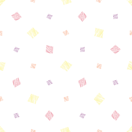 Abstract seamless pattern with scratched elements. Bright colors. Simple background. Illustration