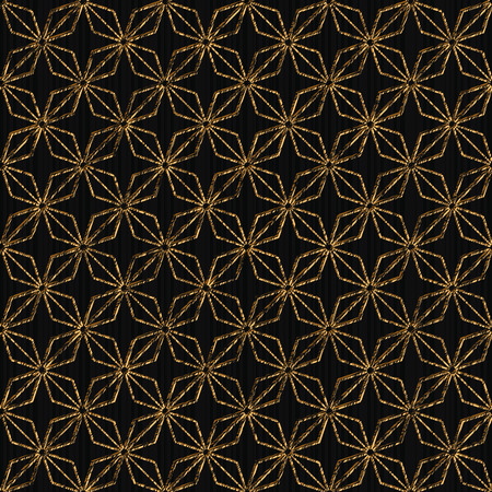 日本の刺し子モチーフ菱 moyoo (ダイヤモンド) に基づく単純なパターン。シームレスです。黄金色。抽象的な幾何学的な背景。壁紙、web ページの背景または表面の質感。 写真素材 - 89455402
