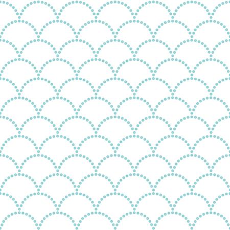 抽象的な波状の背景。シームレス パターン。点在。伝統的なアジアの装飾。装飾または布で印刷。パターンで埋めます。日本のモチーフうろこ (魚
