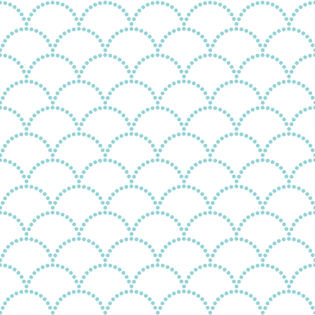 Abstract wavy backdrop. Seamless pattern. Dotted. Traditional asian ornament. For decoration or printing on fabric. Pattern fills. Variation of Japanese motif Uroko (fish scales).