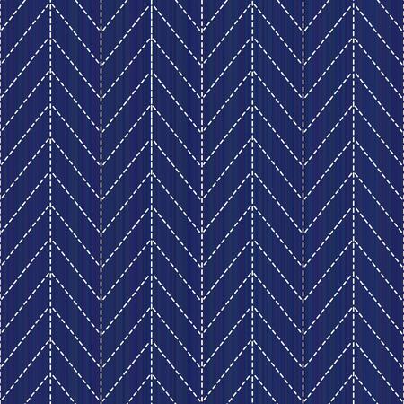 古典的な日本のクイリングします。刺し子。シームレス パターン。抽象的な背景。幾何学的な背景。針仕事のテクスチャです。パターンで埋めます。装飾または布で印刷。 写真素材 - 88084277