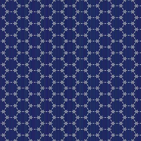 抽象的な背景。古典的な日本のクイリングします。刺し子。シームレス パターン。幾何学的な背景。針仕事のテクスチャです。パターンで埋めます