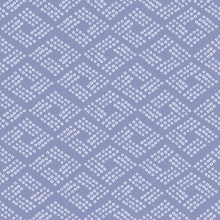 Seamless pattern. Rhombs. Japanese Shibori ornament. Asian. Wavy motif. Violet background. Classic japanese dyeing technique. Plain backdrop for wallpaper, web page background or surface textures.