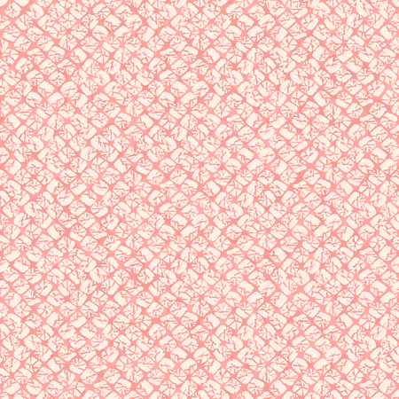 Classic japanese shibori ornament. Asian seamless pattern. Japanese dyeing technique imitation. Pink background. Plain backdrop for decoration, wallpaper or web page background.