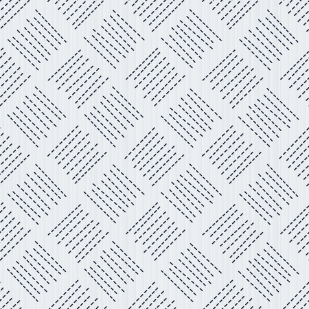 Sashiko. Traditional japanese embroidery. Seamless pattern. Abstract backdrop. Geometric background. Embroidery motif. Pattern fills. For background, texture or needlework.