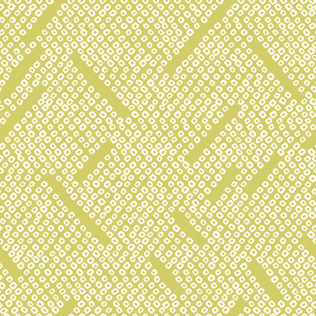 Abstract seamless pattern. Japanese Shibori motif. Geometric background. Classic japanese dyeing technique. Bright yellow asian backdrop. For wallpaper, decoration or printing on fabric. Illustration
