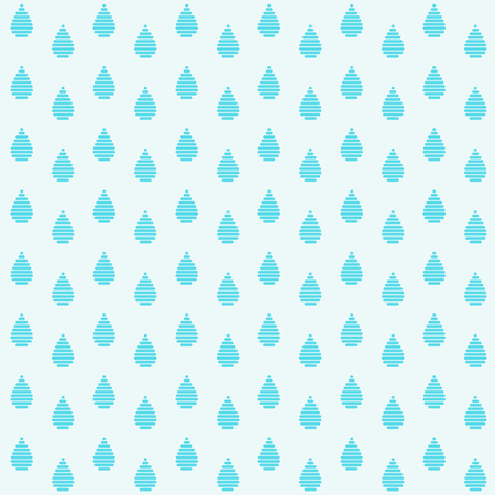 Blue raindrops. Abstract seamless pattern based on Japanese Kogin embroidery