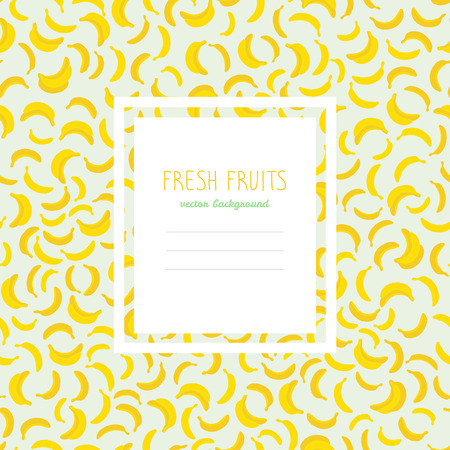 Banana Pattern. Bright Harvest Text Frame. Royalty Free Cliparts ...