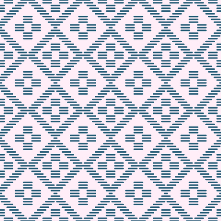Abstract seamless pattern. Kogin technique. Asian embroidery motif. Japanese traditional ornament. Geometric illustration. Ornament for stitching. For background, decoration, or printing on fabric