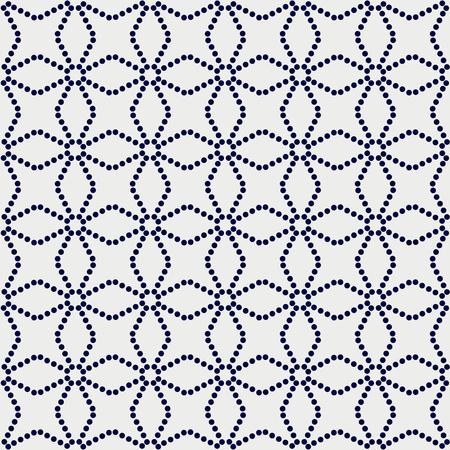 日本のモチーフ。点線のテクスチャ。シームレスなパターン。抽象的な背景。伝統的なアジアの装飾品。布地の装飾や印刷用。パターンが塗りつぶ  イラスト・ベクター素材